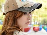 春夏新款韩版休闲男女士嘻哈帽 拼色复古字母情侣棒球帽 遮阳帽子
