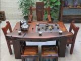 老船木仿古功夫茶几船木茶桌椅组合
