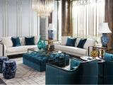 卫诗理家具ON实木沙发轻奢美式客厅懒人布艺沙发组合TL