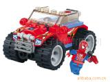 蜘蛛超人-6004 雷霆红警 塑料拼装小颗粒 儿童积木玩具