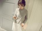 艾佳依 2015秋季女装新品韩国单独家定制多色好质感蕾丝T恤连衣裙