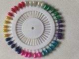 厂家直销 彩色定位珠针(大头) 盘装大头针 中国结DIY手工工具