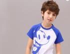 河源哪里便宜服装批发韩版纯棉童装拼色袖子可爱卡通图案T恤批发