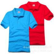 定制工衣工服广告衫 空白纯色男女翻领男式短袖 polo衫