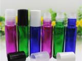 蓝色绿色红色10ml玻璃滚珠瓶配i塑料盖