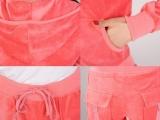 2013韩版天鹅绒运动套装金丝绒大码卫衣