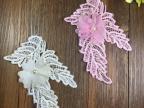 刺绣水溶叶子雪纺钉珠贴花 童装辅料装饰小