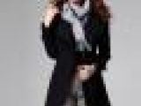 9225#秋冬大衣新款女装毛呢外套女中长款韩版毛呢大衣黑色