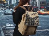 欧美时尚背包韩版书包中学生双肩包女包潮复古帆布包包英伦学院风
