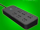 公牛防雷抗电浪涌保护插座插排插板接线板插线板6孔位3米GN-H3