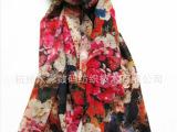 杭州真丝绸缎 时尚数码喷绘印花羊毛绸缎 高档品质服装面料丝绸