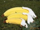 超逼真 可爱卡通爱情香蕉抱枕 靠垫 公寓同款毛绒玩具 一件代发