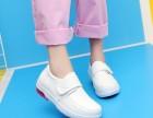 护士鞋医院白色坡跟单系护士鞋