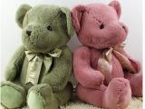 TED丝带领结泰迪熊儿童毛绒玩具古老熊公仔玩偶大号小熊女生礼物