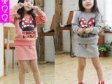 2014新款春装童装儿童套装女童米奇长袖卫衣短裙套装