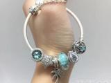 pandora潘多拉珠宝925银串饰串珠手环手镯专柜同款