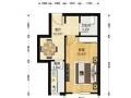 东北三环内 三元桥 三源里街 1室1厅 精装修 看房子方便