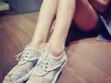 微信代发欧洲站2014新款系带平跟蕾丝网纱铆钉女式韩版女鞋凉鞋子