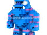 俐智 LOZ小颗粒塑料积木系列 怪兽大学9163 蓝毛怪 拼装积