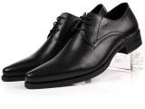 新款男士正装皮鞋 头层牛皮鞋男鞋子 英伦尖头单鞋 低帮鞋真皮男