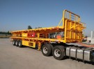 13米平板运输车 高强钢制造 自重5.5吨 保拉50吨1年1万公里面议