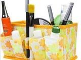 厂家批发 A4女人花化妆盒/新款化妆收纳盒/桌面杂物无纺布整理盒