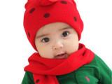 韩版宝宝帽子/儿童帽子/婴儿帽子/瓢虫两件套( 帽子+围巾)
