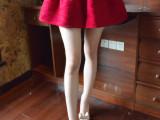 2014冬季新款女装韩国名媛刺绣蕾丝半身裙 裤裙