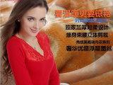2014冬季爆款女士蕾丝保暖内衣单件 全棉女式黄金甲秋衣厂家批发