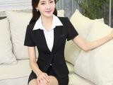 新款职业装女套装夏款 OL修身时尚商务公关制服工作服西服套裙装