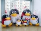 批发情侣QQ公仔 男女款 毛绒玩具企鹅娃娃玩偶生日礼物礼品