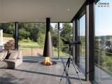 现代纯手工定制悬挂式壁炉产品报价及图片