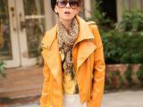 2012秋装新款韩版女款小外套皮夹克修身短款机车小皮衣海宁PU皮