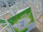 户外广告促销桌制作厂家 铁框超市折叠促销
