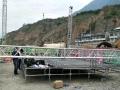 钢铁行桁架背景墙雷亚架折叠铝合金舞台灯光架铁马篷房演出