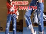 批发10元牛仔裤地摊货源在东莞牛仔裤批发市场大量库存牛仔裤