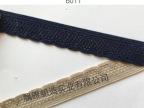厂家直销 针机带丝芽边织带 弹力花边松紧带  氨纶月牙针机带