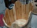 专业制作泡澡桶实木收银台工具柜