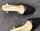 香奈儿拼色凉鞋