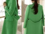 2014欧洲站秋冬女装新款中长款毛呢大衣呢子外套