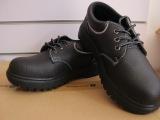 黑皮防砸防刺穿劳保鞋 加钢头带钢板工作安全鞋 工厂工地防滑鞋