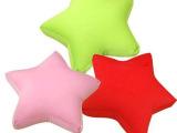 批发供应60CM五角星莱卡布发泡粒礼品大抱枕 环保材料品质保证