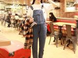 减龄圣品2014春季新款韩国**大儿童百搭显瘦背带牛仔裤休闲裤