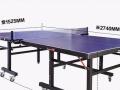 公司活动室改办公室,没位置放,转卖九成新三喜携带式乒乓球台 移动