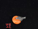 天然尼泊尔藏式手工DIY饰品范冰冰同款吊坠水滴型蜜蜡铜珠配饰