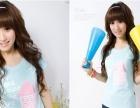 韩版跑量女式短袖T恤批发 圆领印花时装版棉T恤 便宜T恤女