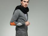 新款百搭男士围巾韩版潮男针织毛线长围脖黑色超大披肩厚