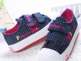 童鞋 2015春季新款 韩版搭扣可爱一脚蹬 韩国通帆布鞋 女童