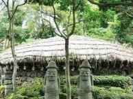 在民俗村体验韩国济州风情