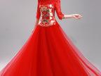 特价夏款秀禾服新娘礼服中式短袖敬酒服中国风红色婚纱旗袍出门纱
